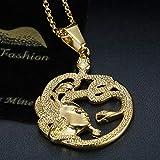 Lee Island Fashion 24K Gold Plated Medusa Gorgon