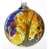 Kitras 6-Inch Fairy Orb Art Glass, Amber