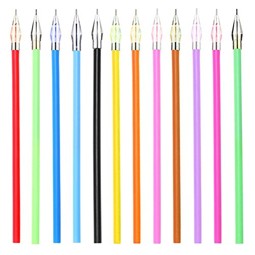 12pcs/Set Cute Diamond Head Refills Roller Ball Gel Pen Refill(12 Colors)