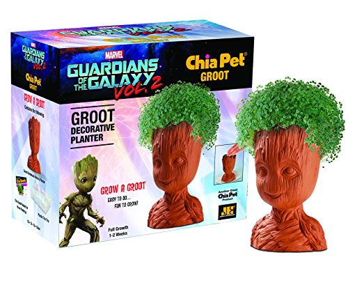(Chia Pet Groot, Guardians of The Galaxy Vol. 2, Decorative Pottery Planter, Easy to Do and Fun to Grow, Novelty Gift, Perfect for Any Occasion)