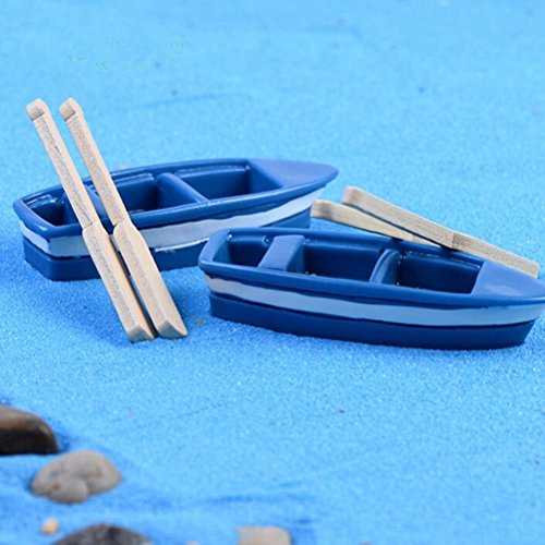 - CosCosX 2 Pcs Miniature Boat 4 Boating Pulp Ocean Beach Aegean Sea Fairy Micro Garden Landscape Craft Dollhouse Decor Micro Landscape Bonsai House Decoration