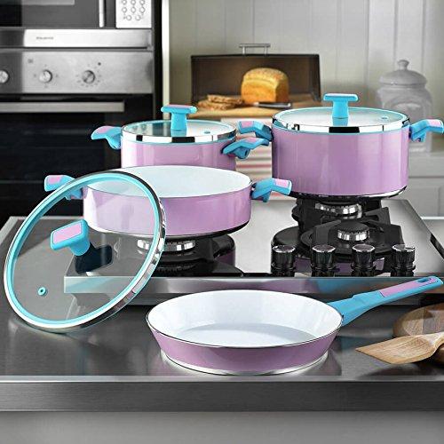 7 Piece Ceramic Coating Cookware & Pans Set B079TC5P2N