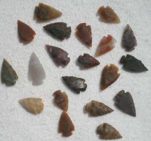 - Set 25 Indian Arrowheads Agate New Replica 1/2