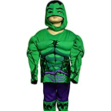 Dressy Daisy Boys' Muscle Incredible Hulk Avenger Superhero Costume Halloween Party