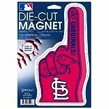 MLB St. Louis Cardinals Die Cut #1 Finger Logo Magnet