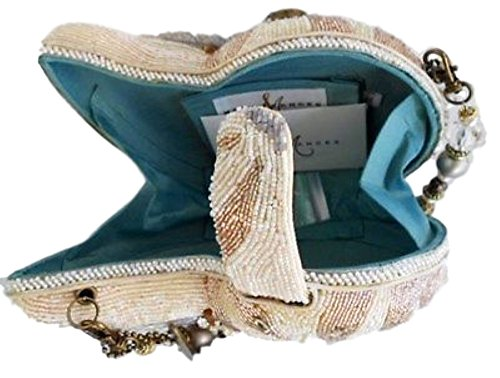 Shell Hand Convertible Nautilus Frances Bejeweled Clutch Mary Ocean Sea Beaded Bag Shoulder IC7XInwq5