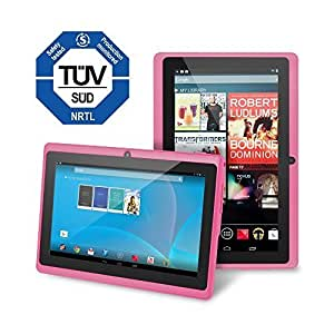 """Chromo Inc 7"""" Tablet Google Android 4.4 with Touchscreen, Camera, 1024x600 Resolution, Netflix, Skype, 3D Game Supported - Pink"""