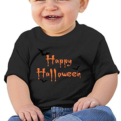 Halloween 6 - 24 Months Baby T-shirts Round Neck Shirt Black 24 Months (Halloween Horror Nights 24 T Shirts)