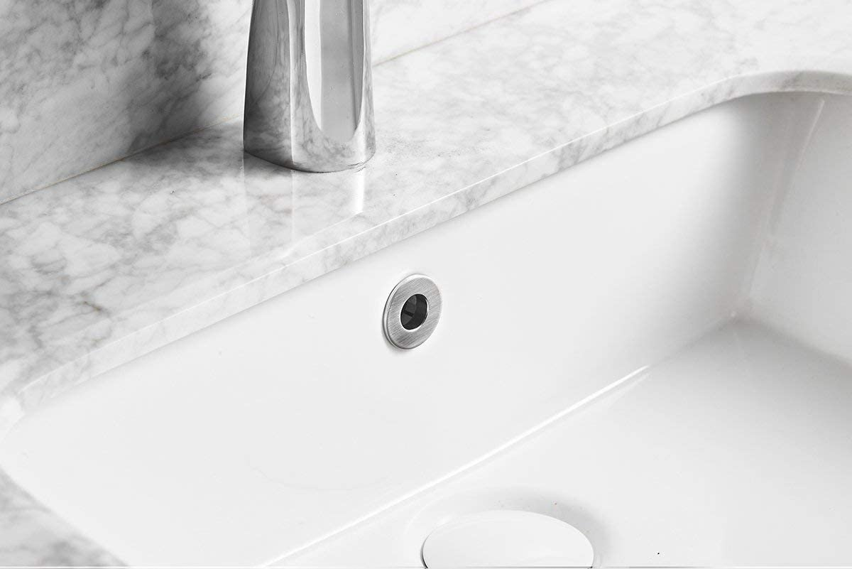 Bathfinesse Bathroom Vanity Sink Basin Trim Overflow Cover Insert In Hole Caps Circular Ring Oil Rubbed Bronze