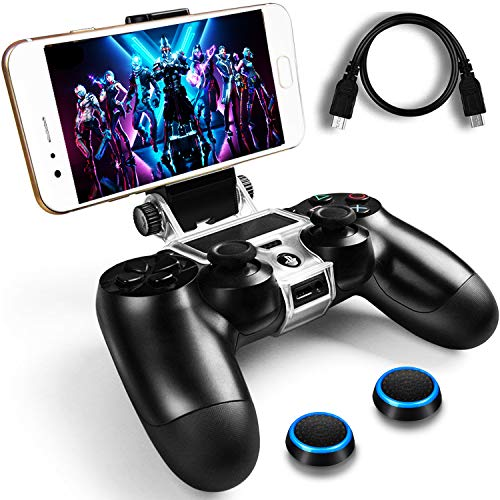 WEPIGEEK PS4 Wireless Controller Phone clip Mount Holder Stand Bracket Compatible with PlayStation Pro/Slim Dualshock 4