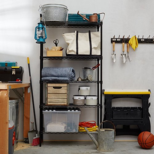 amazonbasics 5 shelf shelving unit black amazin top 100. Black Bedroom Furniture Sets. Home Design Ideas