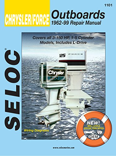 Sierra International Seloc Manual 18-01101 Chrysler/Force Outboards Repair 1962-1999 3-150 HP 1-5 Cylinder Model Includes L-Drives (Parts Force Outboard)