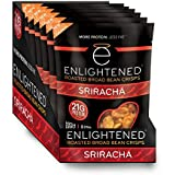 Enlightened Plant Protein Gluten Free Roasted Broad (Fava) Bean Snack, Sriracha, 6 Count