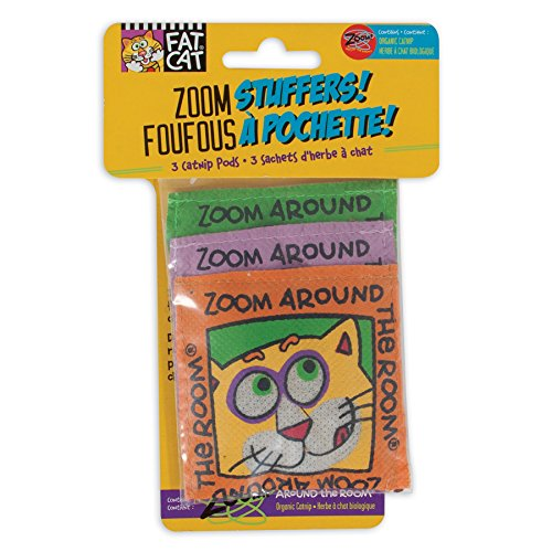 Image of Fat Cat FATCAT Zoom Stuffers Catnip Pods
