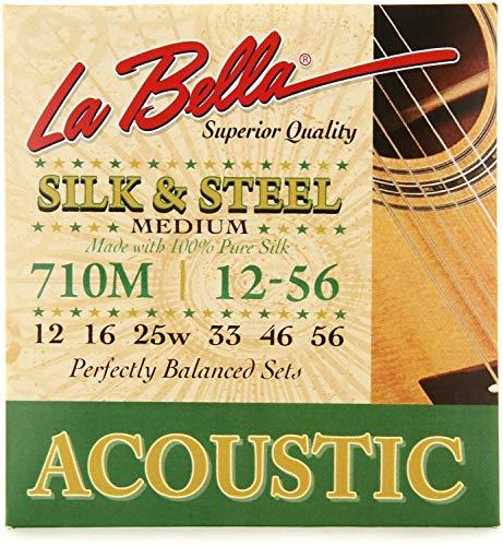 (La Bella 710M Silk & Steel Acoustic Guitar Strings - Medium)