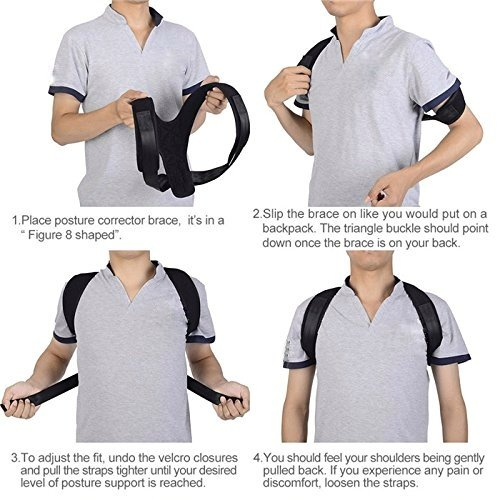 Adjustable Posture Corrector For Men & Women Clavicle Support, Improve Bad Posture, Shoulder Alignment, Muscle Memory, Upper Back and Neck Pain Relief by Tech-Prime (Image #3)