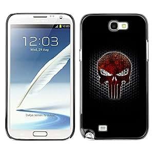 SAMSUNG Galaxy Note 2 II / N7100 , Radio-Star - Cáscara Funda Case Caso De Plástico (Punish Skull)