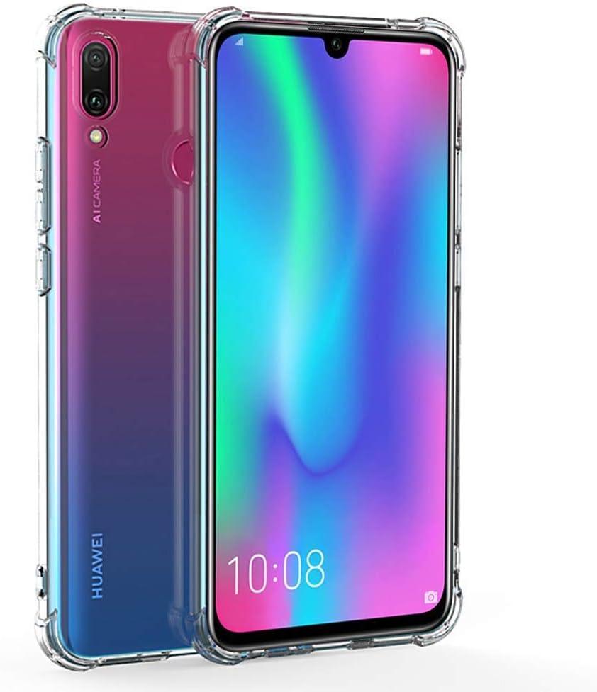 REY Funda Anti-Shock Gel Transparente para Huawei P Smart 2019 - Honor 10 Lite, Ultra Fina 0,33mm, Esquinas Reforzadas, Silicona TPU de Alta Resistencia y Flexibilidad