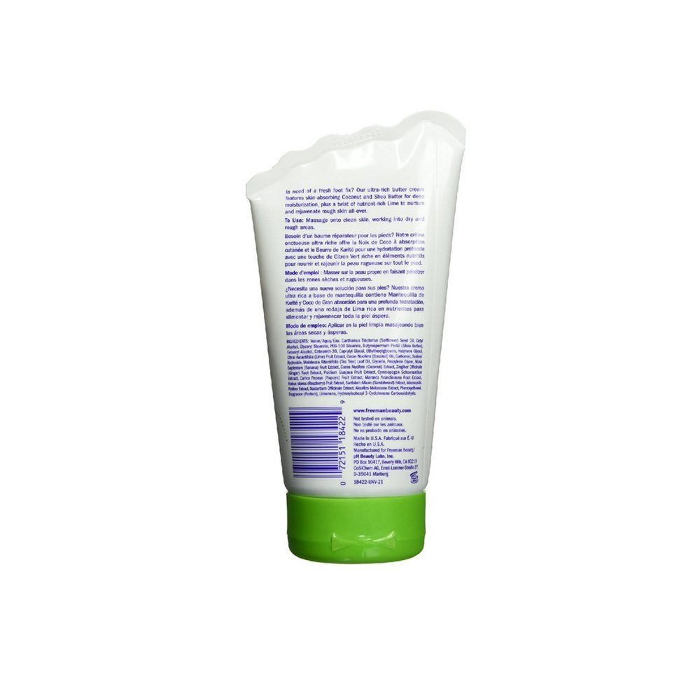 Freeman Bare Foot Butter Cream, Lime Coconut 4.20 oz Pack of 7