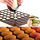 Star-Trade-Inc - 48 hole French macarons silicone mat cookies baking oven temperature non-stick pad large chocolate mold 38x 28 A021