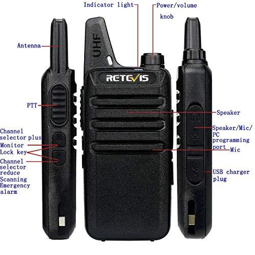 10*Retevis RT22 2Way radio WalkieTalkie 16CH VOX TOT Emergency Alarm+10*Earpiece