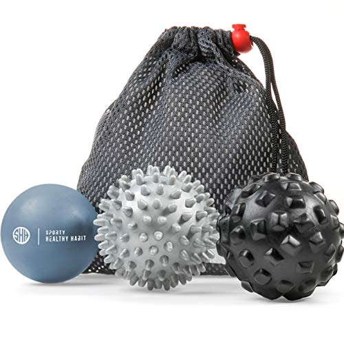 Massage Balls Deep Tissue: Lacrosse Ball, Spiky Ball and Foam Ball Roller -Trigger Point Therapy, Myofascial Release, and Muscle Recovery. Foot Massager and Plantar Fasciitis. Free eBook & Video