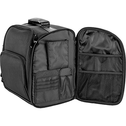 a627829bd605 JustCase T5372 2-In-1 Professional Soft Sided Hair Stylist Rolling ...