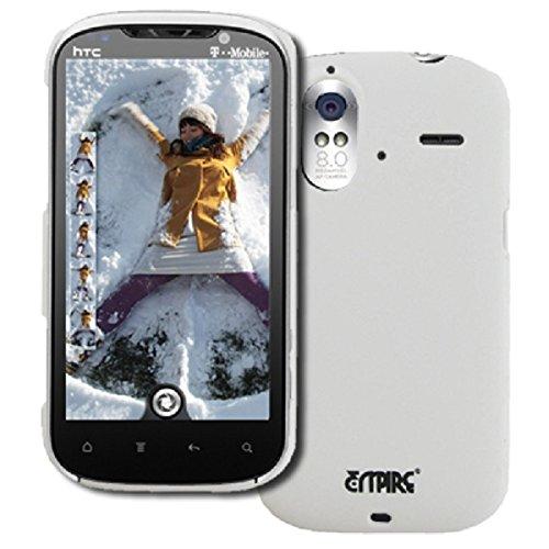 EMPIRE HTC Amaze 4G Stealth Gummierte Harte Case Tasche Hülle Cover (Weiß)