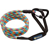 Phydeaux's Mountain Climbing Rope Dog Leash - 6 ft Long (Tripping on Acid) - Heavy Duty - Extra Thick Rope, Locking Carabiner, Perfect for Medium and Large Dogs