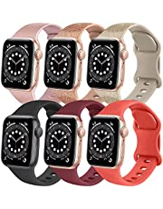 Wanme Sport Bands Compatible with Apple Watch Bands 38mm 40mm 42mm 44mm, Soft Silicone Bands Compatible with iWatch Series 6 5 4 3 2 1 & SE