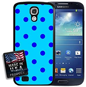 Blue Polka Dots Galaxy S4 Hard Case by lolosakes