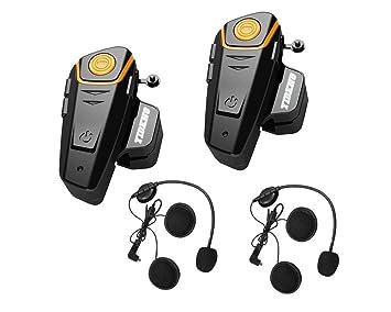 Auriculares de Diadema para Motocicleta con Bluetooth para intercomunicador de Auriculares universales inalámbricos a 2 3 Conductores: Amazon.es: Coche y ...