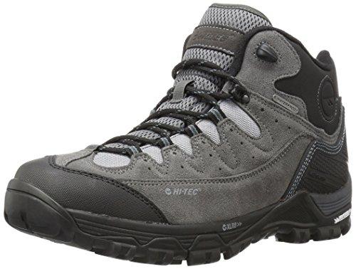 Hi-Tec Men's Ox Belmont Mid I Waterproof Hiking Shoe, Gull Grey/Black/Goblin Blue, 14 D US