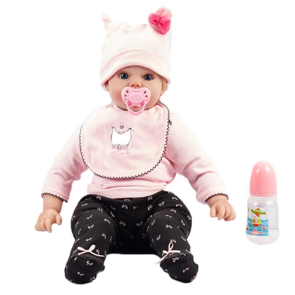 Hongge Reborn Baby Doll,Muñeca Realistic Rebirth Doll Realistic Baby Doll Toy 50cm