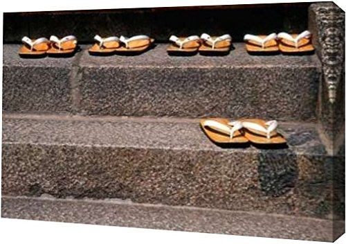 japan-kyoto-zori-sandals-on-steps-of-a-shrine-by-nancy-steve-ross-19-x-30-gallery-wrapped-giclee-can