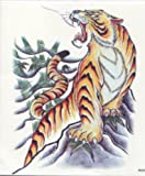 "GGSELL GGSELL EXTRA LARGE Size: 7.87 x 8.66"" Inches waterproof and fashionable oversized male models tiger totem temporary tattoos for half back"""