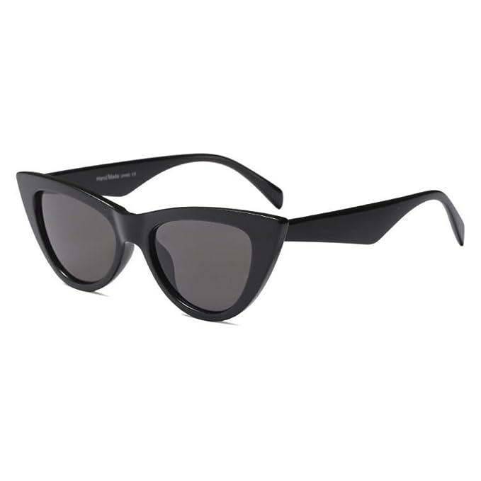 Hzjundasi Moda Ojo de gato Gafas de sol para Mujer Enorme ...