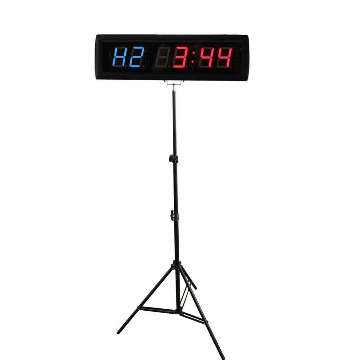 BT 1.8'' LED Interval Wall Clock Count Down/Up Stopwatch For Gym Garage Fitness With Tripod