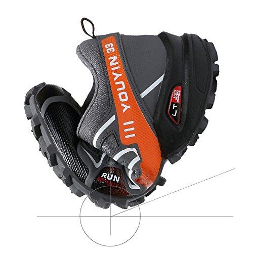 Con Cordones Senderismo Para Al Entrenamiento Zapatos Deportivos Libre Blue Montañismo Casual Aire Hombres O6v1wx8xPq