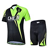 LSERVER Kids Breathable Quick Dry Cycling Jersey