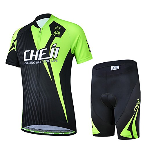 Cycling Jersey Set for Children boys girls Mountain Bikes Suits Clothing Breathable Bike Shirt Short Sleeve and 3D…