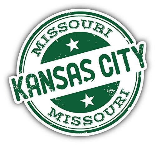 KW Vinyl Kansas City USA Grunge Stamp Truck Car Window Bumper Sticker Decal 5
