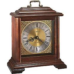 Howard Miller Medford Mantel Clock 612-481 - Windsor Cherry Wood with Quartz & Dual-Chime Movement