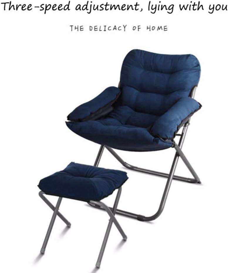 CYQ Floor chair Game seat Portable folding Lazy chair lin Reclining chair Sofa Home Office Meditation Reading TV Watching game, Darkcoffee Blackstars