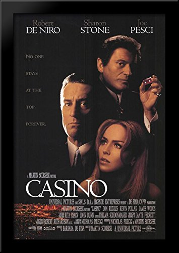 Casino 28x40 Large Black Wood Framed Print Movie Poster Art by ArtDirect