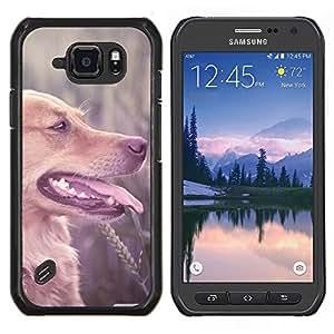 EJOOY---Cubierta de la caja de protección para la piel dura ** Samsung Galaxy S6Active Active G890A ** --De pelo largo de Brown Labrador Retriever campo Perro