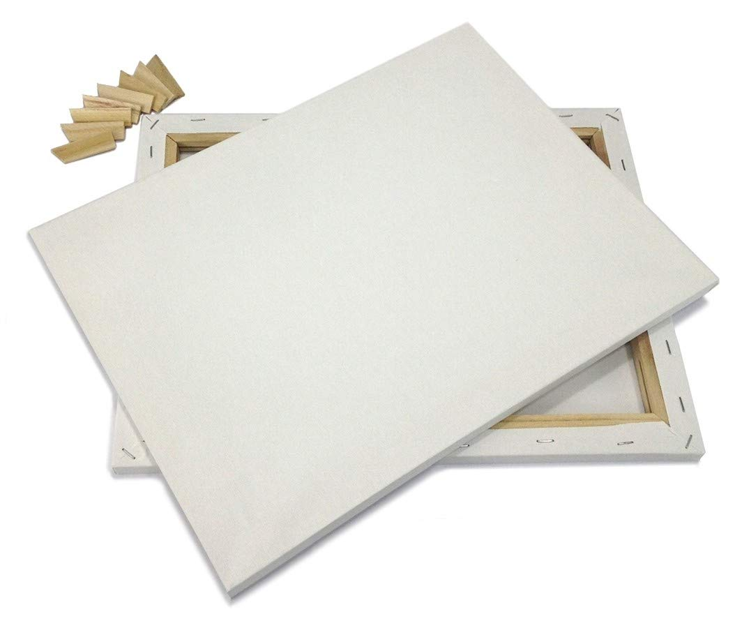 """Lot 2 ARTIST CANVAS 5x7"""" BLANK Framed Pre-Stretched Cotton Double Gesso"""