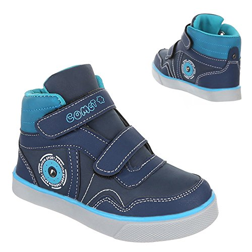Ital-Design - Zapatillas de Material Sintético para niña Azul - azul