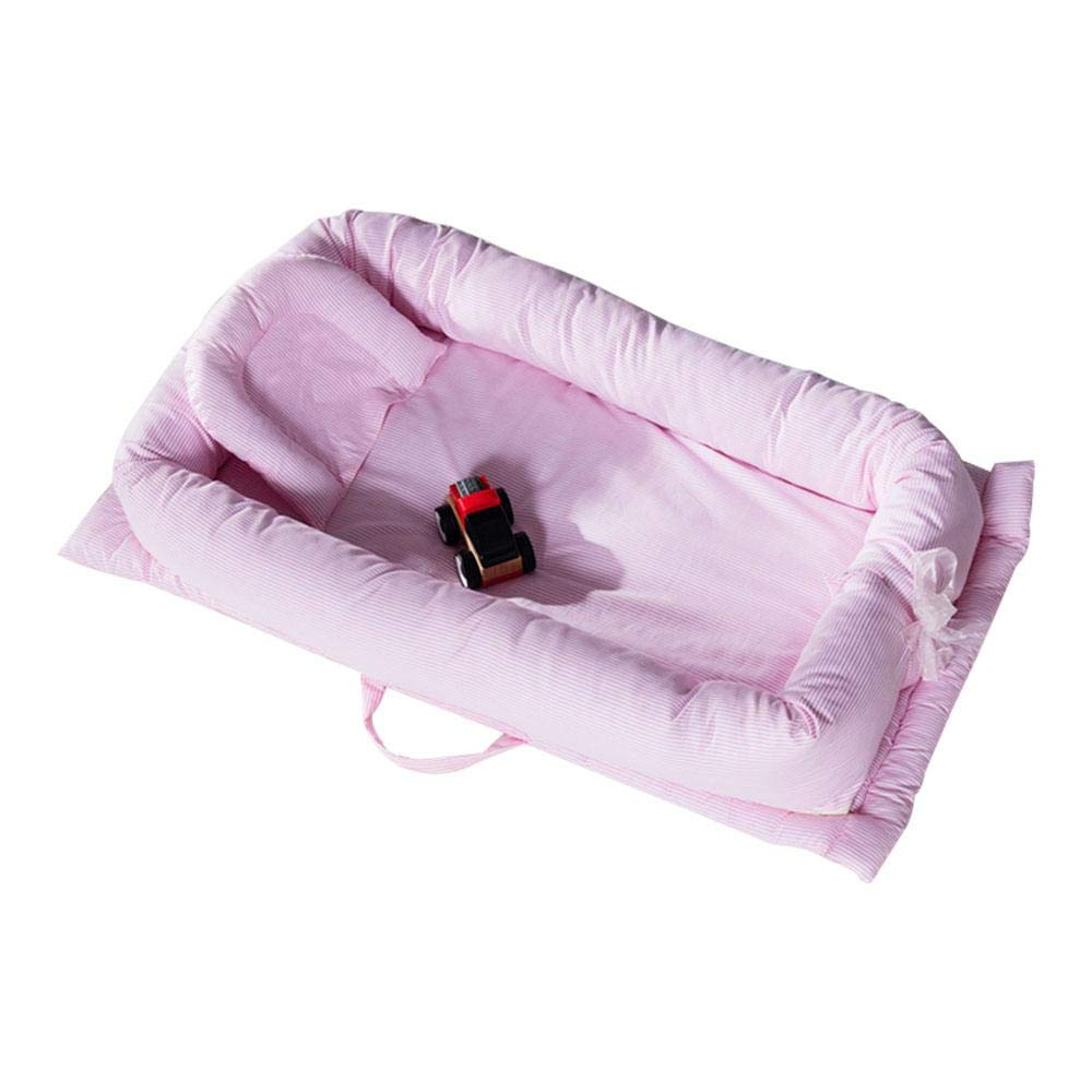 AOLVO Snuggle Nest Baby Lounger, 100% Cotton Nest Newborn Portable Crib, Breathable and Hypoallergenic Baby Bed Infant Sleeper Newborn Lounger for Bedroom/Travel
