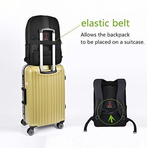 KOPACK Business Backpack Scan Smart /Anti Theft /Tsa Friendly Laptop Bag Black 17 Inch Men
